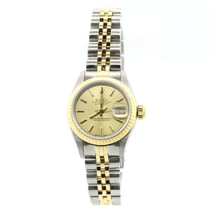 Rolex Rolex Datejust 18K Yellow Gold Fluted Champagne Dial 26mm Ladies Watch