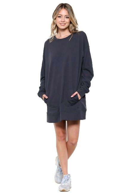 Preload https://img-static.tradesy.com/item/22472239/charcoal-oversized-sweatshirt-with-pockets-short-casual-dress-size-4-s-0-0-650-650.jpg
