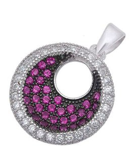9.2.5 Unique pink ruby and sapphire disc pendant