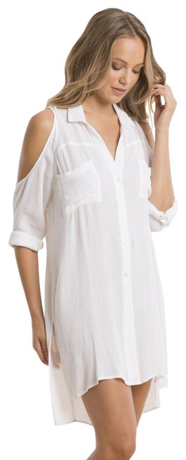 Preload https://item2.tradesy.com/images/elan-white-cold-shoulder-dress-tunic-size-8-m-22472251-0-1.jpg?width=400&height=650