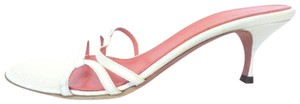 Judith Leiber Ivory Sandals