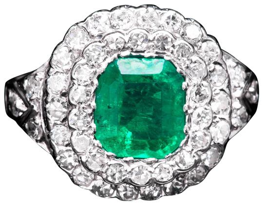 Preload https://img-static.tradesy.com/item/22472286/art-deco-forest-green-emerald-and-diamond-in-platinum-ring-0-1-540-540.jpg