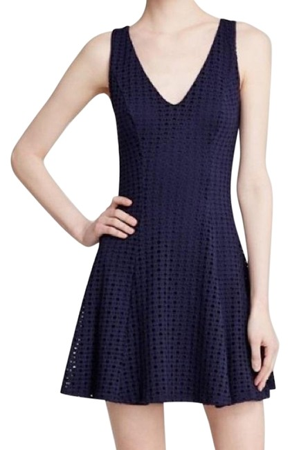 Preload https://img-static.tradesy.com/item/22472337/aqua-navy-eyelet-skater-fit-and-flare-short-cocktail-dress-size-2-xs-0-1-650-650.jpg