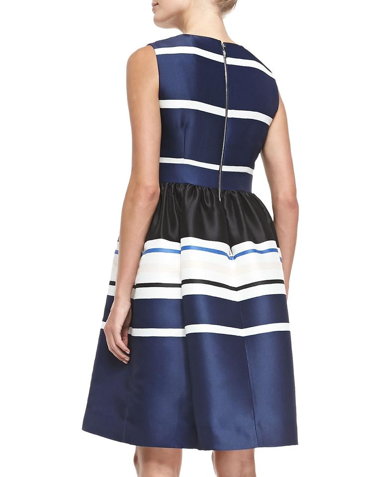 Kate Spade Multicolor Holiday Striped Sleeveless Work Office Dress