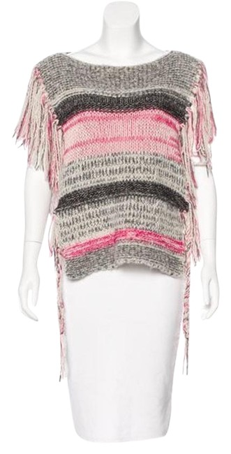 Preload https://item1.tradesy.com/images/etoile-isabel-marant-pink-grey-chunky-knit-peyton-ponchocape-size-6-s-22472420-0-1.jpg?width=400&height=650