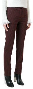 Etro Classic Straight Pants Burgundy/Patterned