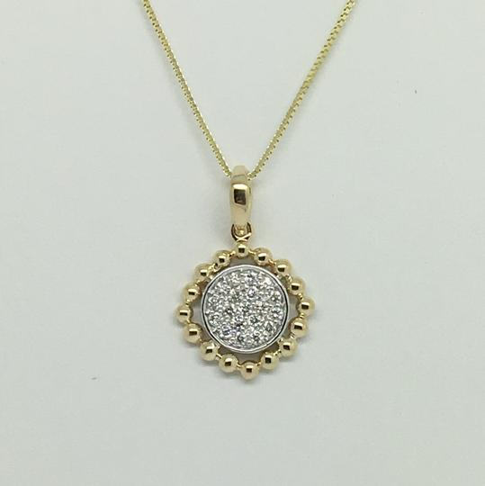 Other 14K Two Tone Gold Natural Diamond Pendant