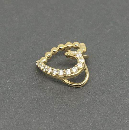Other 14K Yellow Gold Natural Genuine Diamomd Heart Pendant