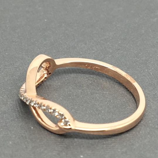 Other 14K Rose Gold Natural Genuine Diamond Infinity Sign Ring