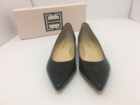 Ivanka Trump Pointed Toe Low Black Patent Leather Pumps