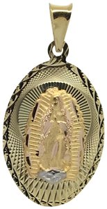 Other 14K Yellow Gold Oval Shape Guadalupe Pendant