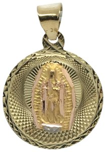 Other 14K Yellow Gold Round Guadalupe Pendant