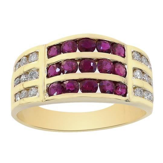 Preload https://item2.tradesy.com/images/avital-and-co-jewelry-yellow-gold-025-carat-diamond-075-carat-ruby-14k-ring-22472606-0-0.jpg?width=440&height=440