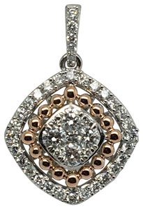 Other 14K White and Rose Gold Natural Genuine Diamond Pendant