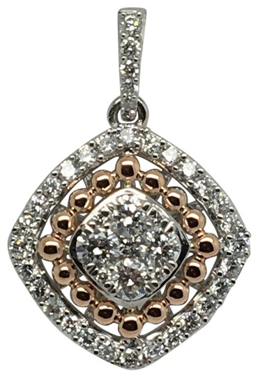 Preload https://item1.tradesy.com/images/14k-white-and-rose-gold-natural-genuine-diamond-pendant-charm-22472630-0-1.jpg?width=440&height=440
