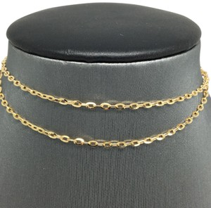Other 18K Yellow Gold Cable Chain 16 Inches