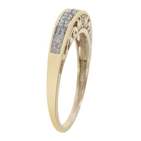 Avital & Co Jewelry 0.08 Carat Round Cut Diamond 'Mom' Ring 10K Yellow Gold