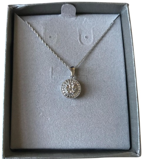 Preload https://item2.tradesy.com/images/kay-jewelers-silver-kay-s-diamond-accent-sterling-pendant-necklace-22472681-0-3.jpg?width=440&height=440
