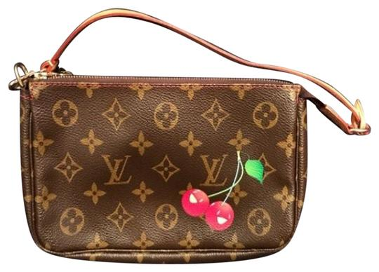 Preload https://item4.tradesy.com/images/louis-vuitton-pochette-monogram-brown-and-cherry-leather-wristlet-22472708-0-4.jpg?width=440&height=440