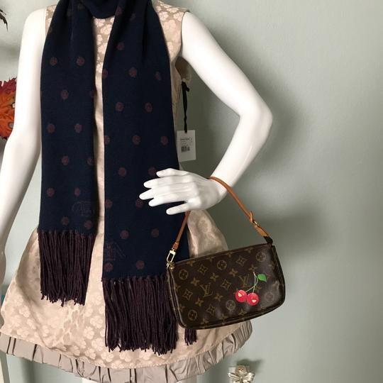 Louis Vuitton Vintage Casual Wristlet in Brown and cherry