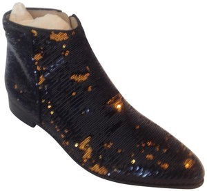 Anna Baieuera Sequin black and gold Boots