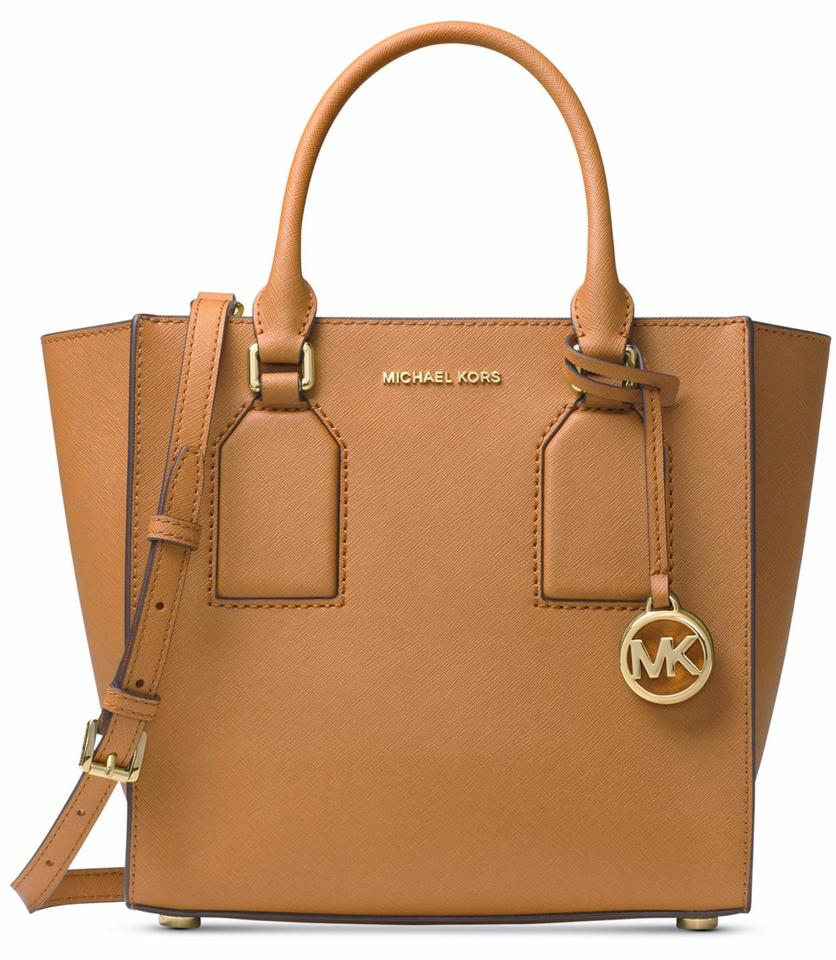 53352e03ff38 Michael Kors Selby Medium Luggage Leather Satchel - Tradesy