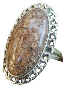 Other Sterling silver Turritella Agate ring