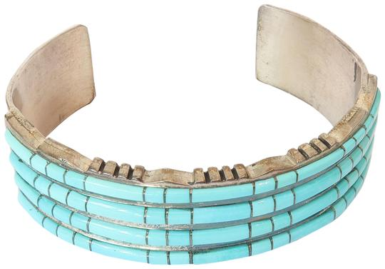 Preload https://item1.tradesy.com/images/turquoise-sterling-silver-zuni-inlay-bracelet-22472750-0-1.jpg?width=440&height=440