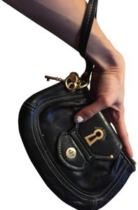 Juicy Couture Leather Gold black Clutch
