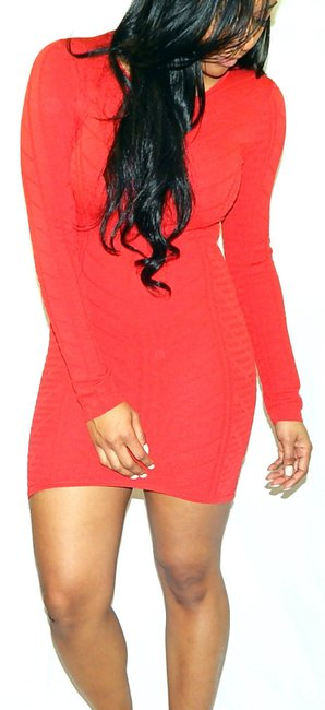 Torn by Ronny Kobo Bodycon Mini Longsleeve Stretchy Knit Dress