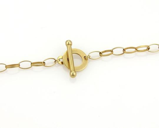 Other Large Open Long Oval Link 14k Gold Toggle Necklace