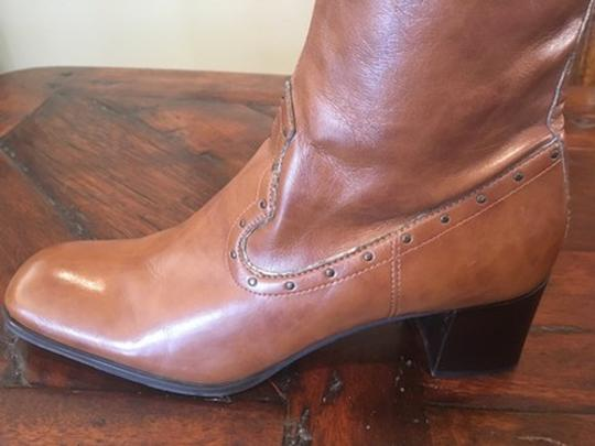 Franco Sarto Faux Leather Brown Boots
