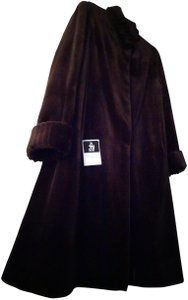 Saks 5th Ave Real Womens Real Mink Womens Mink Sculptured Fur Coat