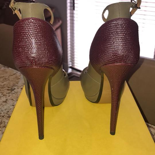 Fendi olive and burgundy Formal