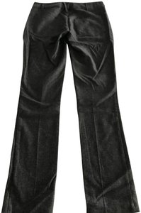 Vince Relaxed Wool Boot Cut Straight Pants Charcoal Grey