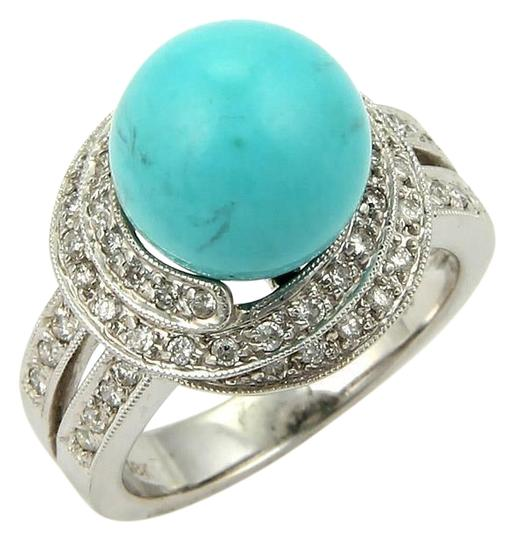 Preload https://item3.tradesy.com/images/15597-diamond-and-turquoise-18k-gold-spiral-cocktail-ring-22473147-0-1.jpg?width=440&height=440