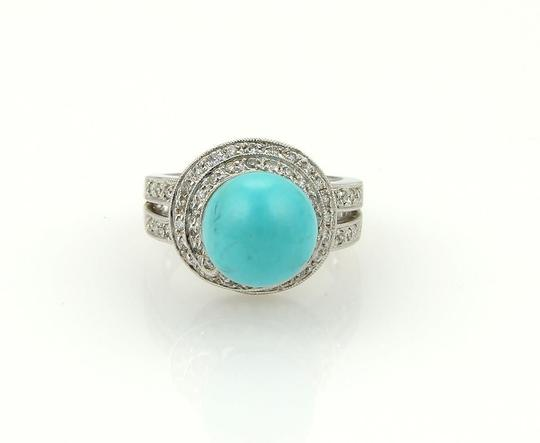 Other Diamond & Turquoise 18k Gold Spiral Cocktail Ring