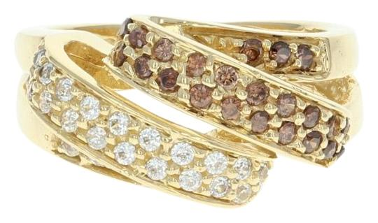 Preload https://item4.tradesy.com/images/cubic-zirconia-ribbon-18k-yellow-gold-bypass-czs-women-s-size-5-ring-22473153-0-1.jpg?width=440&height=440