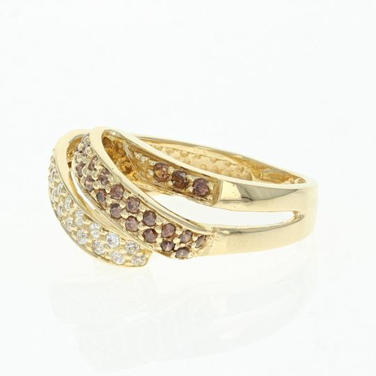 Wilson Brothers Cubic Zirconia Ribbon Ring - 18k Yellow Gold Bypass CZs Women's Size 5