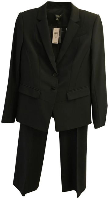Preload https://item4.tradesy.com/images/ann-taylor-black-light-weight-wool-pant-suit-size-petite-4-s-22473233-0-1.jpg?width=400&height=650