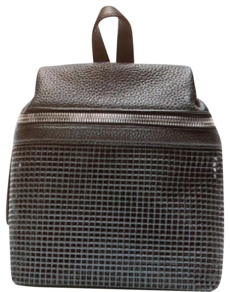 06144c995f KARA Small Pebbled and Doubled Mesh Black Lambskin Leather Backpack ...