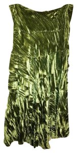 Necessary Objects Maxi Skirt GREEN CRUSHED VELVET