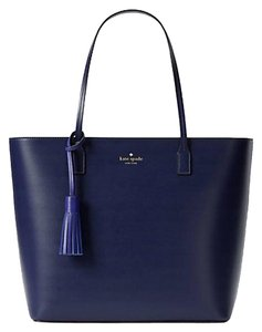 Kate Spade Wright Place Karla Leather Sawyer Street Tori Haven Street Maxi Tote in Sapphire/Midnight Blue