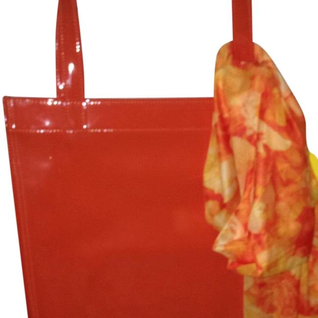 Item - Orange Hot Pink Yellow Or Turquoise E Faux Leather Tote