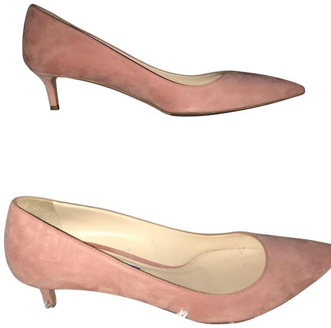 Item - Pink Kitten Heel In Suede Pumps Size US 7.5 Regular (M, B)