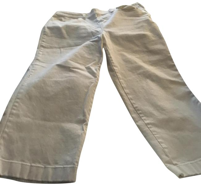 Item - White Fits Like A 10 Cropped-12 with Stretch Trouser/Wide Leg Jeans Size 31 (6, M)