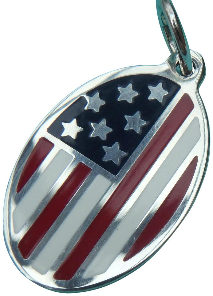 232f8f7eae7ba Tiffany & Co. Red White and Blue Enameled American Flag Charm 51% off retail
