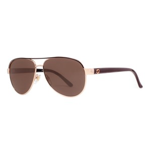 Gucci NEW Gucci GG 4239/S Brown Gold Pilot Aviator Metal Sunglasses