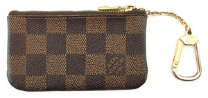 Louis Vuitton #15315 Damier Ebene key cles Pocket Holder credit Card Case Coin Purse
