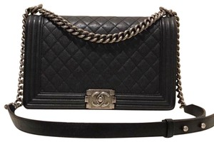 5117fc9f749 Added to Shopping Bag. Chanel Boy Boy Le Boy Classic Shoulder Bag. Chanel  Boy New Medium Le Black ...